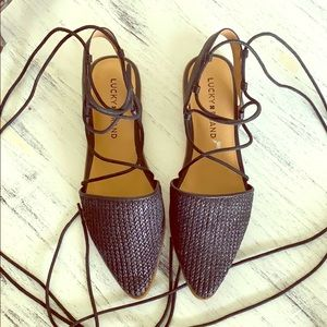 Lucky brand lace up shoes